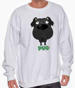 big nose Pug sweatshirt