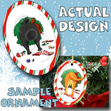 Pug Wreath Christmas Ornament