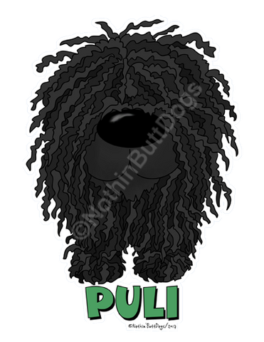 Big Nose Puli Dark Colored T-shirts