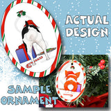Rat Terrier Butt Christmas Ornament