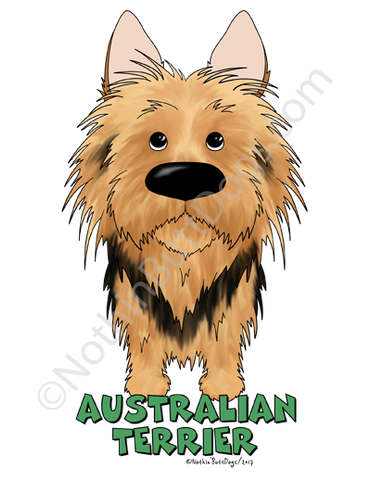Big Nose Australian Terrier Light Colored Long Sleeve T-shirts
