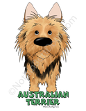 Big Nose Australian Terrier Key Chain