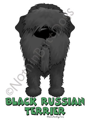 Big Nose Black Russian Terrier Dark Colored T-shirts