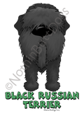 Big Nose Black Russian Terrier Light Colored T-shirts