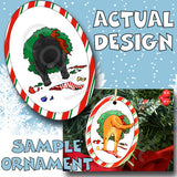 Schnauzer Wreath Christmas Ornament