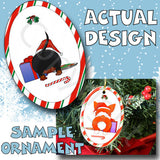 Dachshund Santa Hat Christmas Ornament