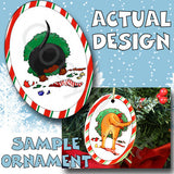 Dachshund Wreath Christmas Ornament