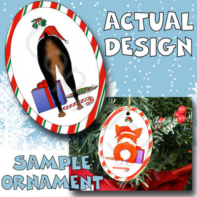 Doberman Butt Christmas Ornament