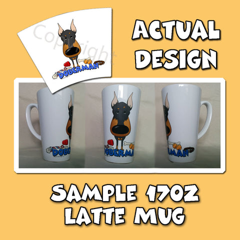 Big Nose Doberman 17oz Latte Mug