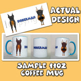Big Nose Doberman 11oz Coffee Mug