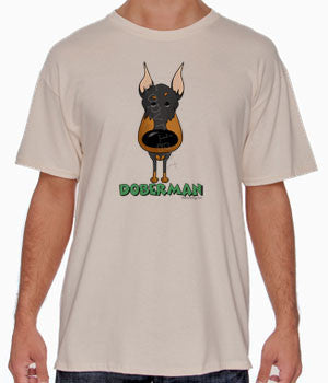 Big Nose Doberman (Black & Tan) Shirts - More Styles and Colors Available
