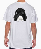 Black & White Dachshund Butt White T-shirt