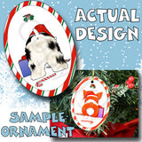 Cocker Spaniel Santa Hat Christmas Ornament