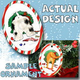 Cocker Spaniel Wreath Christmas Ornament