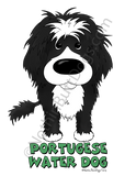 Big Nose Portuguese Water Dog (Wavy) Light Colored T-shirts
