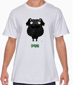 Big Nose Pug T-shirts - More Colors Available