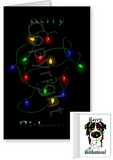 Tri Aussie Merry Christmas Lights Greeting Cards