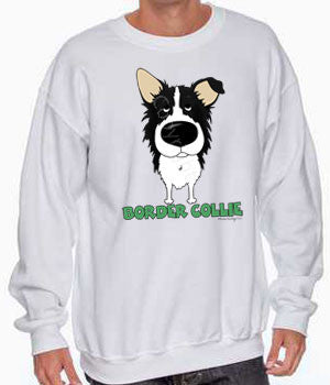 big nose Border Collie sweatshirt