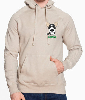 Black & White Cardigan Welsh Corgi (Big Nose) Sweatshirts - More Styles and Colors Available