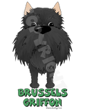 Big Nose Brussels Griffon (Black) Shirts - More Styles and Colors Available