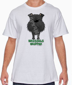 Big Nose Brussels Griffon (Black - Uncropped) Shirts - More Styles and Colors Available