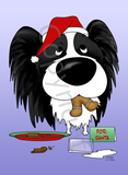 Papillon Santa's Cookies Greeting Cards