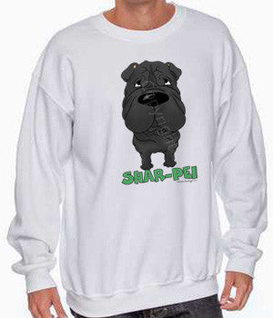big nose Shar-Pei sweatshirt