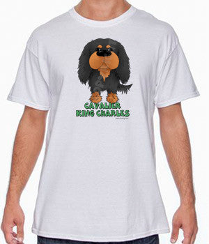 Black & Tan Cavalier King Charles Spaniel (Big Nose) Shirts - More Styles and Colors Available