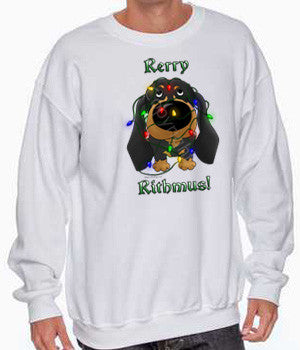 Black & Tan Dachshund Rerry Rithmus Shirts - More Styles and Colors Available