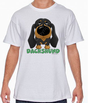 Black/Tan Dachshund (Big Nose) Shirts - More Styles and Colors Available