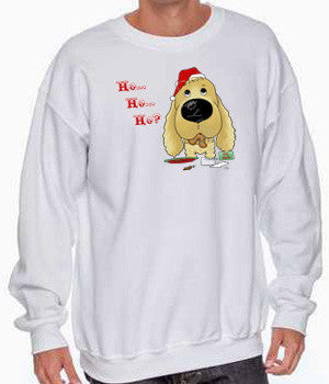 Cocker Spaniel santa sweatshirt