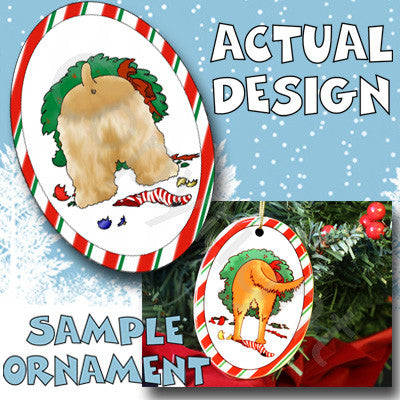 Cocker Spaniel Butt Christmas Ornament