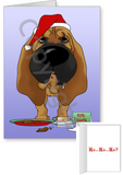 Bloodhound Santa's Cookies Greeting Cards