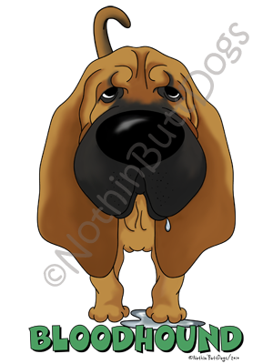 Big Nose Bloodhound Light Colored T-shirts