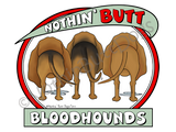 Nothin' Butt Bloodhounds Light Colored T-shirts