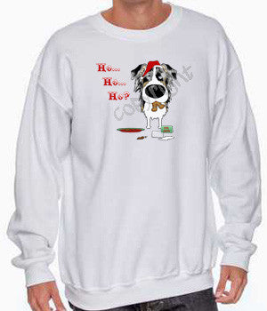 Blue Merle Aussie Santa's Cookies Shirts - More Styles and Colors Available