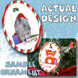 Australian Shepherd Santa Hat Christmas Ornament