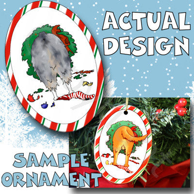 Australian Shepherd Butt Christmas Ornament