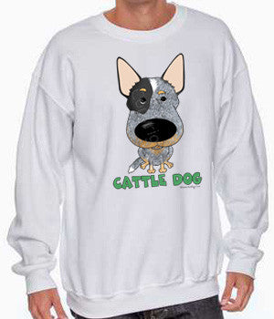big nose cattle dog sweatshirt