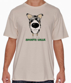 Big Nose Blue Merle Smooth Collie Shirts - More Styles and Colors Available