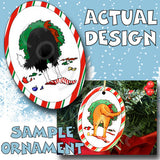 Border Collie Butt Christmas Ornament