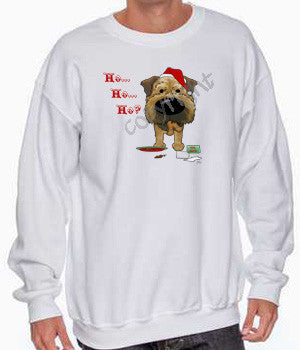 Border Terrier santa's cookies christmas sweatshirt