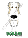 Big Nose Borzoi Dark Colored T-shirts