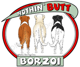 Nothin' Butt Borzoi Light Colored T-shirts