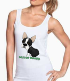 Big Nose Boston Terrier Women's Tank Top - White
