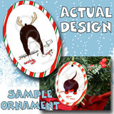 Boston Terrier Antler Christmas Ornament