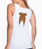 Big Nose Boxer (Black/Tan) Women's Tank Top - White