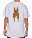 Big Nose Boxer Cropped (Tan/White) T-shirts - More Colors Available