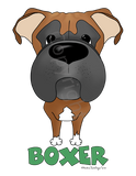 Big Nose Boxer (Black/Tan) Youth T-shirts - More Colors Available