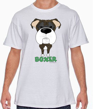 Big Nose Boxer (Brindle) T-shirts - More Colors Available